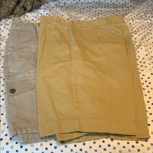 2 pairs shorts waist size 34